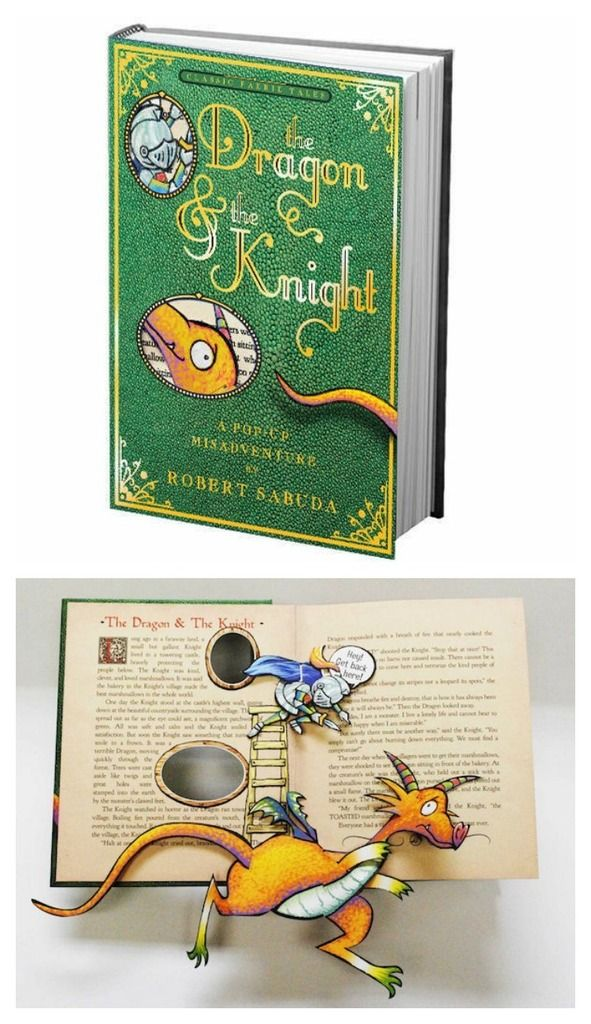 beautiful pop-up books for kids | The Dragon and the Knight by Robert Sabuda