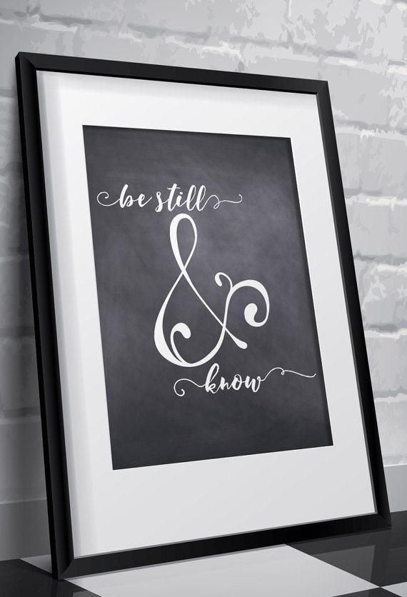 Chalkboard print Christian wall art decor by TwoBrushesDesigns