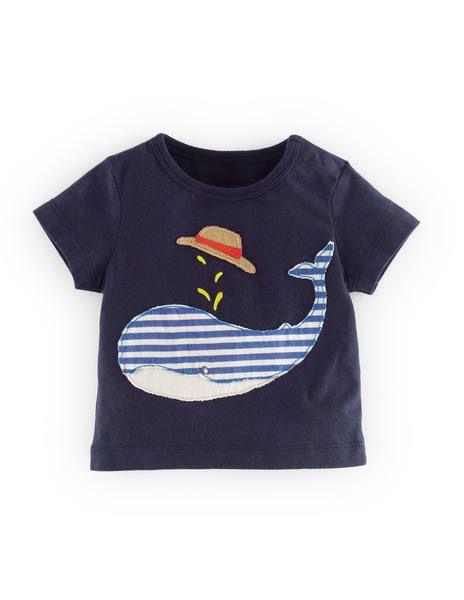 T-Shirt mit großer Applikation 71404 Motivshirts bei Boden