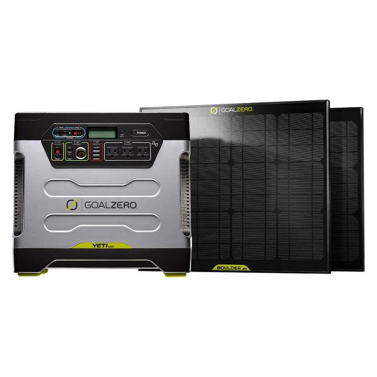 Whether you are working and playing off grid or experiencing a power outage, the Yeti 1250 Solar Generator Kit offers the power to get it done. Silent, Safe and easy to use indoors or out. The Yeti is a clean and self sustaining solution that can be charged from the wall, car or sun. Power your lights, appliances and tools free from the grid - without the noise and fumes of petrol generators. Goal Zero Yeti 1250 Solar Generator Kit Includes: 1 x Goal Zero Yeti 1250 Solar Generator 2 x…