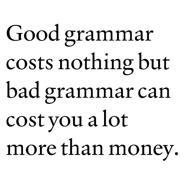 how to write a quote grammar