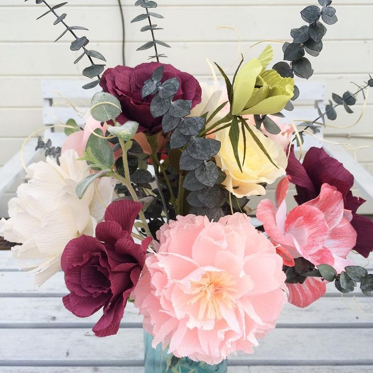 Crepe paper flowers by _stellaflora