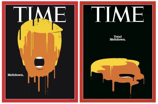 Donald Drumpf's Meltdown Returns to Time's Cover