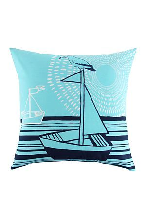 """South African, illustrator and potter Olivia Villet has collaborated with Mr Price Home to create a nautical inspired range of home ware. This Olivia Villet 60x60cm Scatter Cushion is made with polycotton and is a fashionable addition to a lounge or bedroom.<div class=""""pdpDescContent""""><BR /><b class=""""pdpDesc"""">Dimensions:</b><BR />L60xW60 cm<BR /><BR /><b class=""""pdpDesc"""">Fabric Content:</b><BR />20% Cotton 80% Polyester<BR /><BR /><b class=""""pdpDesc"""">Wash Care:</b><BR>Gentle machine wash low…"""