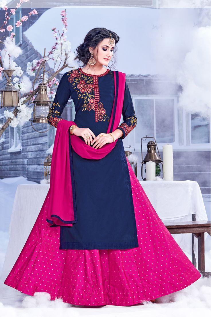 NavyBlue-Designer-Festival-And-Wedding-Wear-Indo-Western-Style-Salwar-Kameez-With-Embroidary-Work-Sareen-Riddi-Siddhi-Fashion-Catalog-13303