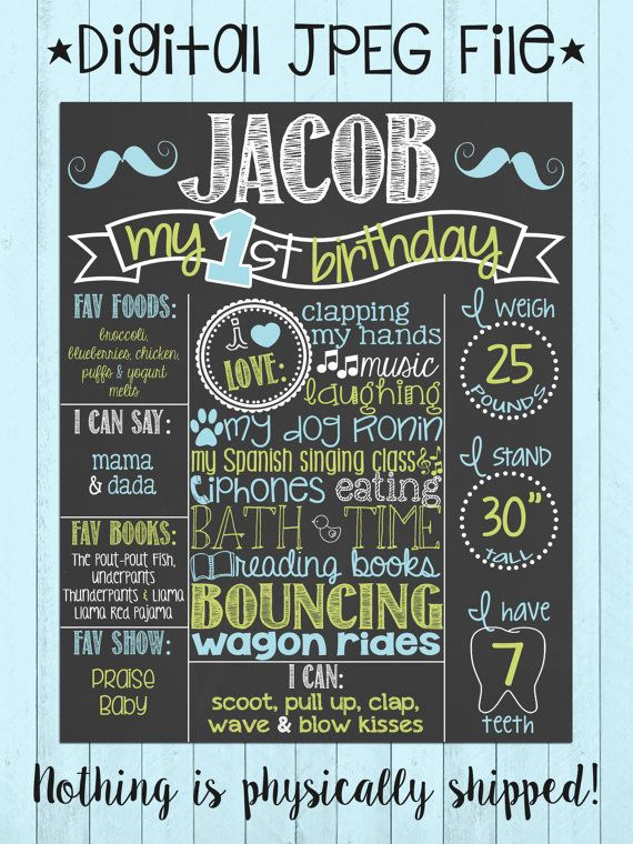 Hey, I found this really awesome Etsy listing at https://www.etsy.com/listing/190614555/mustache-first-birthday-chalkboard