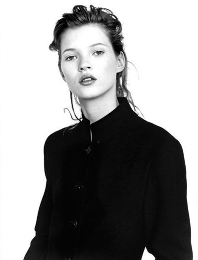 kate moss // fashion // black and white // simple