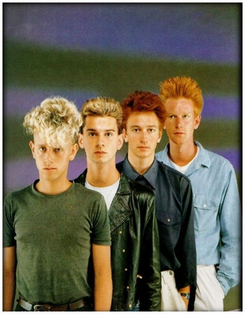 Depeche Mode and their poofy hair