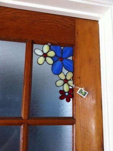 Coins d coratifs vitrail bulle givr e coin de fen tre for Decoration fenetre vitrail