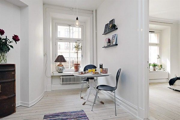 Apartment, Outstanding Small Dining Room Table Set Up