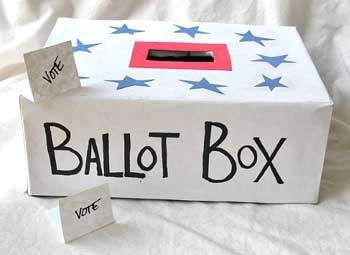 I can't really use the accompanying lesson plan, but the ballot box in the picture made me think of Election Day and how I could have students read about the candidates and cast votes.  I love the idea of a political debate in the classroom and teaching them how to sift through the nonsense.  I could use some work on that myself...