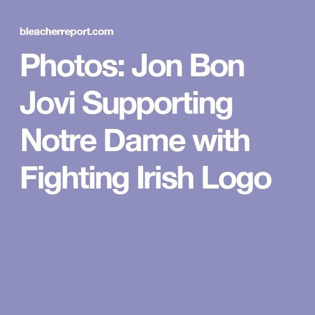 Photos: Jon Bon Jovi Supporting Notre Dame with Fighting Irish Logo