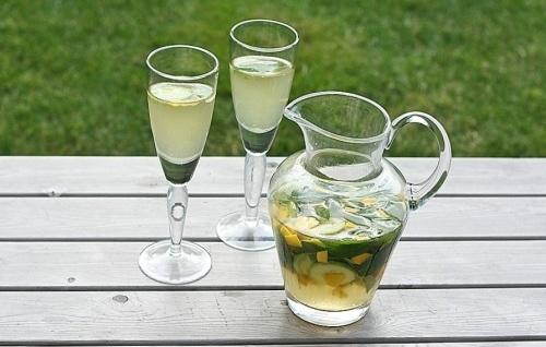 Homemade Mango Cucumber Wine Coolers.
