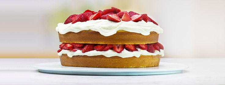 Berries & Cream Cake - This recipe starts with our Irresistibly Easy White Cake Video Technique, and finishes with the perfect balance of creamy decadence and fruity freshness.