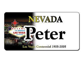 Nevada USA Kennzeichen mit individuellem Wunschtext bedruckt - Hausnummern und Schilder online kaufen
