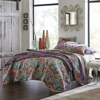 Tristan Oversized Quilt Exotic And Luxurious Paisley Patterned Quilt.  Fabric Bound Edges. Fall BedroomHome ...