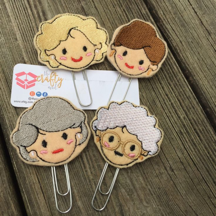 These Golden Girls inspired planner clips make a fun addition to your planner supply stash!