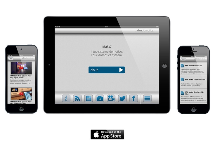 AFM #domotics official app for iPhone, iPod touch, iPad.  Get the latest information, catalogues, manuals, discover the advanced #homeautomation with our multimedia contents, and share your experiences with us throught the socials networks.