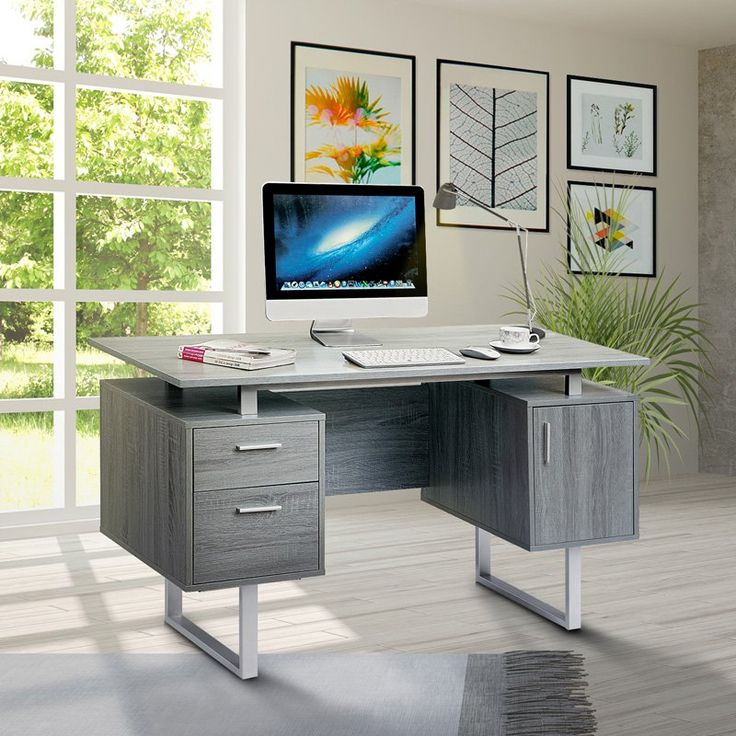 Techni Mobili Modern Office Desk With Storage Modern Office Desk Desk Storage Home Office Desks