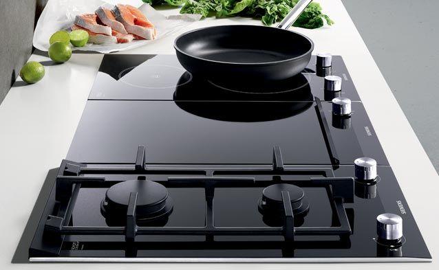 Stel je ideale kookplaat samen met Siemens Domino. Wokken, Teppanyaki of gewoon een gerecht uit de pan