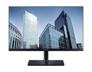 """Samsung Monitor LS24H850QFUXEN, Bildschirmdiagonale: 24 """", Auflösung: 2560 x 1440 (WQHD), Paneltyp: PLS, Bildschirmoberfläche: Matt, Farbraum: Anderer, USB-Hub, Farbe: Schwarz, Seitenverhältnis Bildschirm: 16:9, Daisy Chain"""
