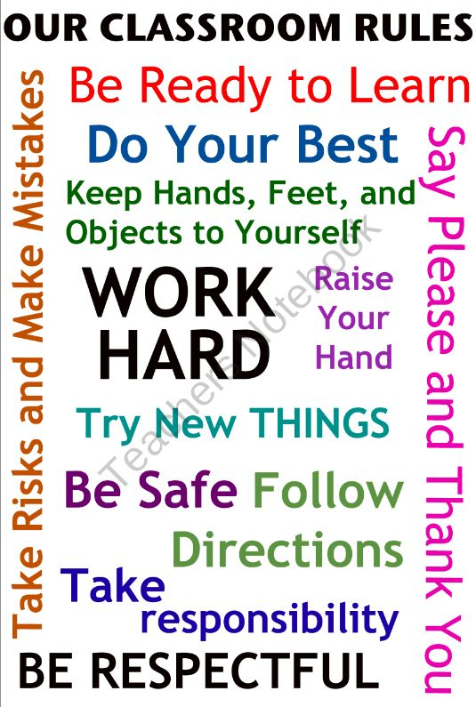 Classroom Rules - Poster Idea (Color) product from Mrs-Lyons-Classroom on TeachersNotebook.com