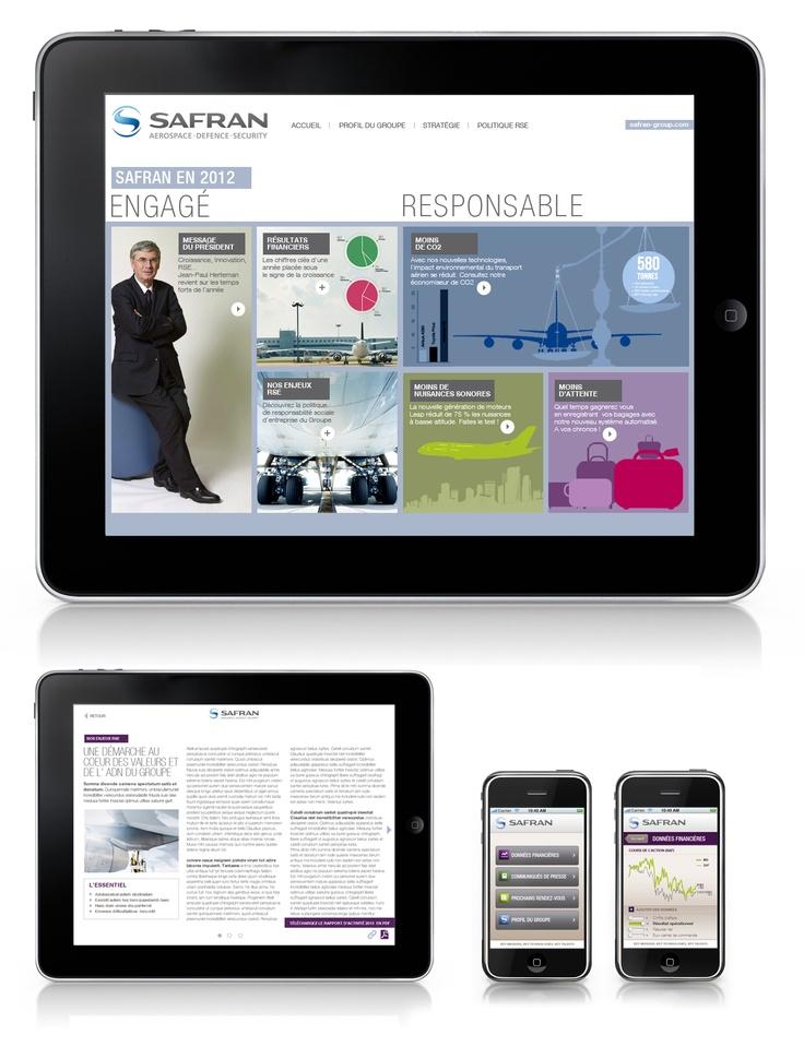 SAFRAN rapport annuel web responsive avec l'agence Havas