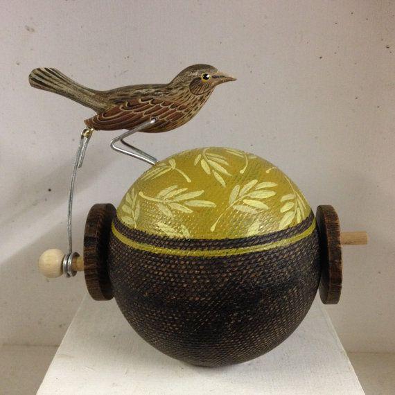 Pecking female blackbird by OPISHOP on Etsy