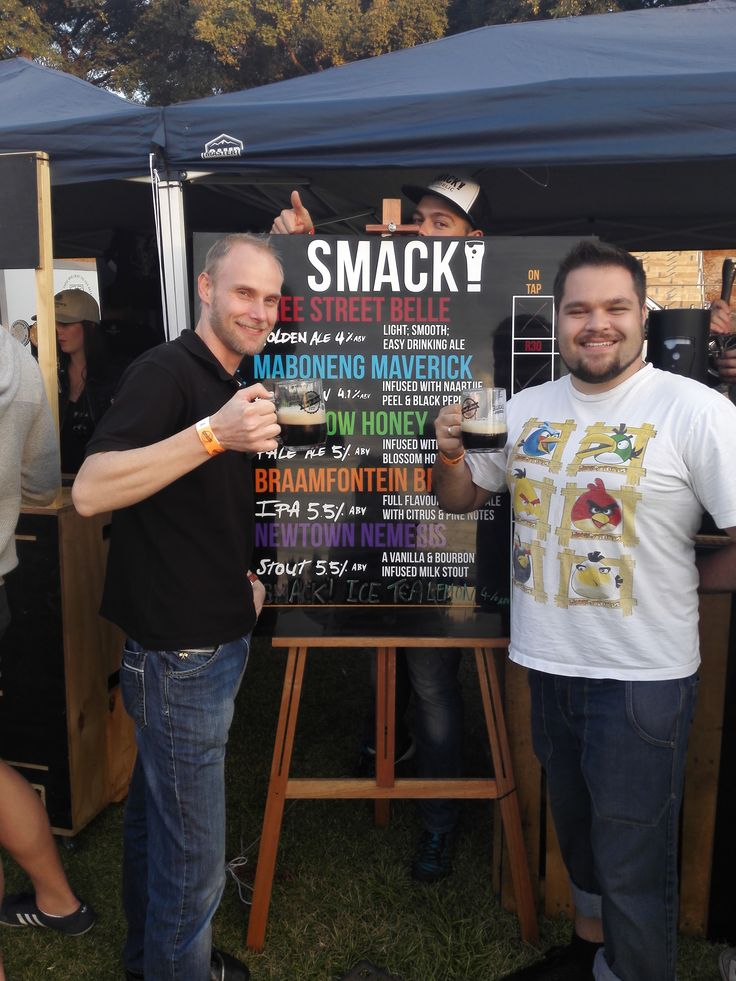 Thanks to the expert help of Warrick Brown and Shanna-Rae Alice of Time Anchor Distillery, we decided that SMACK! Republic Brewing Co.'s Newtown Nemesis was Beer of the Day! #BeerOfTheDay #CraftBeer #JoziCraftBeerFest #Joburg #Johannesburg #CraftBeerFest #Beer  #CraftInTheCity