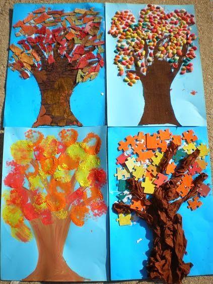 παιχνιδοκαμώματα στου νηπ/γειου τα δρώμενα: φθινοπωρινά δέντρα σε τέσσερις εκδοχές !!!
