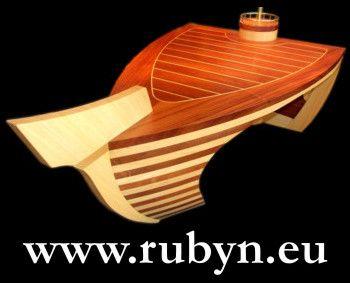Santa Maria yacht (solide mahogany and antiaris) desk by Rubyn. Luxury style at home. www.rubyn.eu