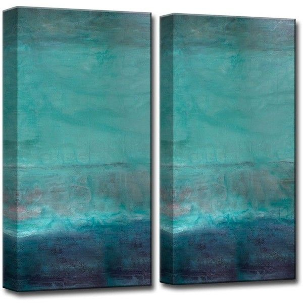 Ready2HangArt 'Abstract Spa' 2-piece Gallery-wrapped Canvas Art Set ($167) ❤ liked on Polyvore featuring home, home decor, wall art, green, canvas wall art, landscape wall art, green canvas wall art, oversized canvas wall art and canvas art set