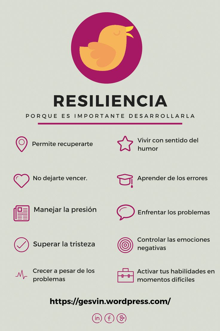 Resilience & the importance of developing it- I can read most of this infographic.