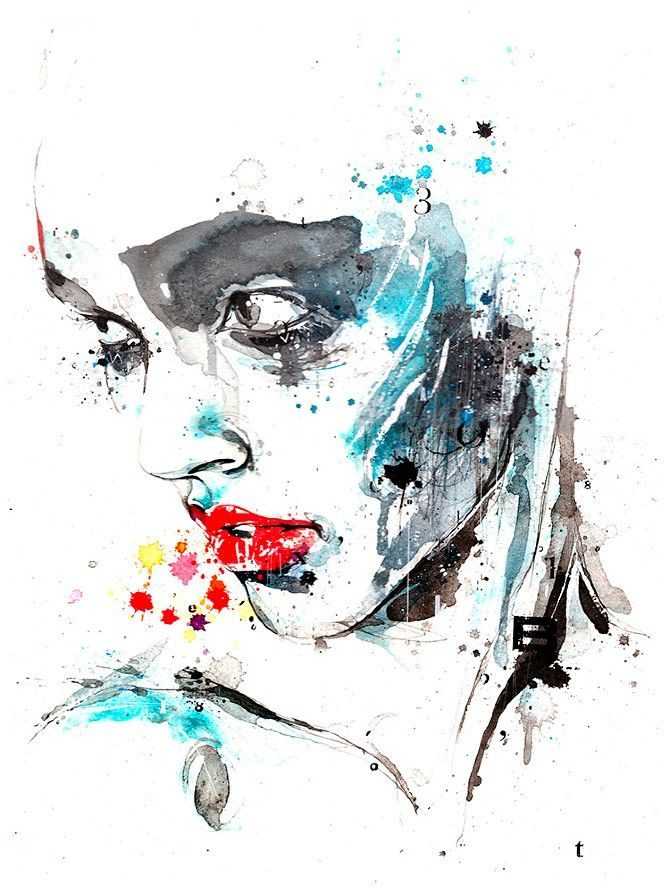 beautiful illistration of a women very abstract