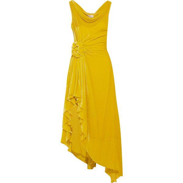 Evening dress velvet acid