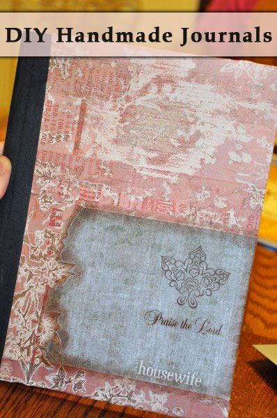 DIY Handmade Journals http://thehappyhousewife.com/home-management/handmade-journals/#_a5y_p=1404680