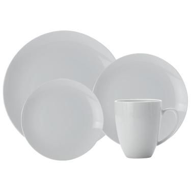 Casa Domani Casual White 16 Piece Coupe Dinner Set White