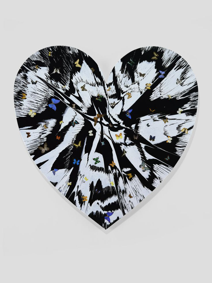 Damien Hirst - Beautiful Love Survival Painting with Beautiful Butterflies