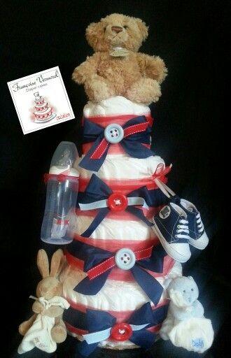 Diaper cake bébé sportif par Françoise Vermorel