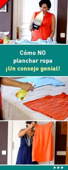 Cómo NO planchar ropa. ¡Un consejo genial! #noplanchar #planchar #plancha #ropa #trucos #tips #consejos