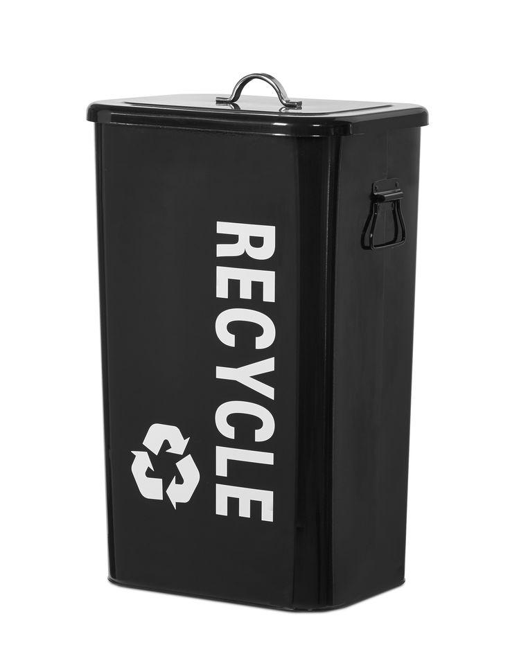 Förvaringsbox i lackad metall. Passar perfekt till att förvara tidningar till återvinningen. Finns i flera storlekar.