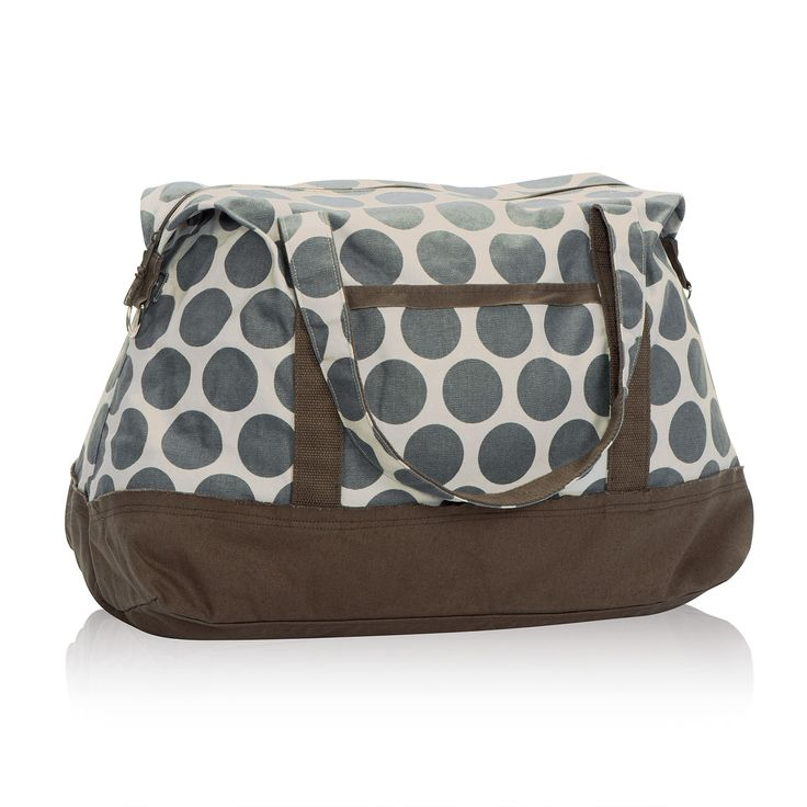 Retro Metro Weekender in Grey Mod Dot for $80 - Featuring all the style of our Retro Metro Bag but as a weekender with more room inside, this is the perfect tote to take along on any trip. With five pockets and a spacious interior, you'll have plenty of room to store everything you need! Each Retro Metro style features one of 60 unique, inspirational sayings.  Via @thirtyonegifts