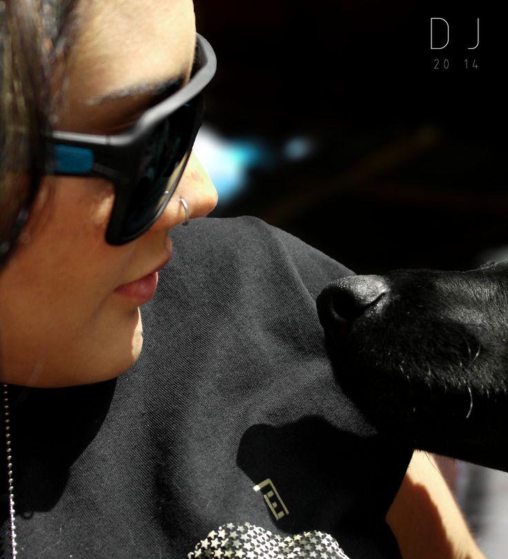 #dog #girl #noses