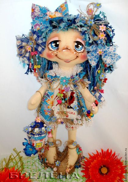 Текстильная кукла Домовушка Синеглазка Дашенька. - кукла,текстильная кукла