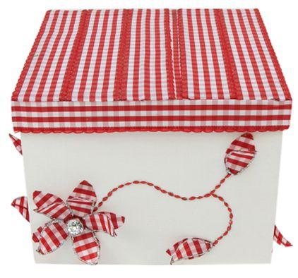 Caja de regalo para el día de las madres / Regalo para mamá / 10 de mayo / Regalo original / Caja de madera color rojo