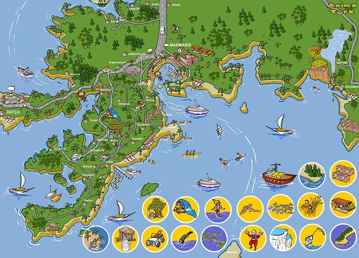Marmaris Turizm Haritası