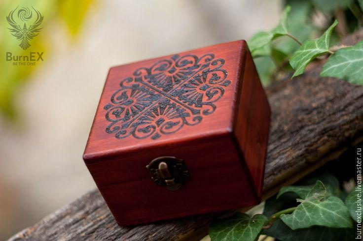 Купить Шкатулка для колец - бордовый, шкатулка, шкатулка для украшений, шкатулка деревянная, шкатулка ручной работы