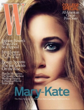 Mary-Kate Olsen W -- I wanna do this pose! For W! ;-)