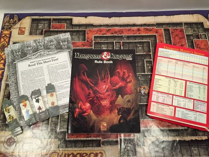 TSR Dungeons and Dragons Game 1991 #1070 Missing Dice Extra Tokens #Doesnotapply