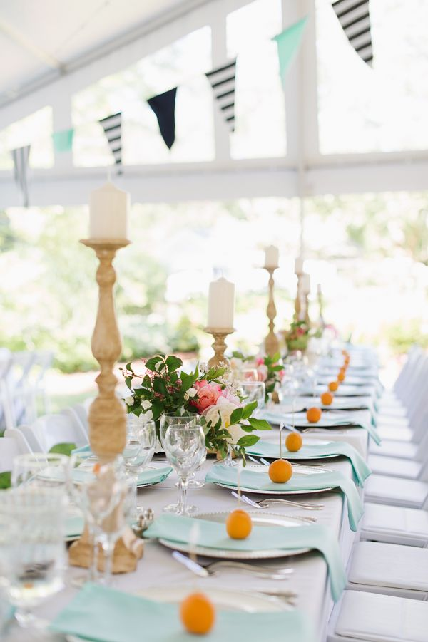 apricot, navy, and aqua | Natalie Franke #wedding Blakely's wedding!!! | Charleston Stems